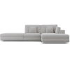 This item: Perry Gris Fabric Sectional Sofa With Ottoman