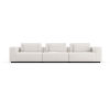 This item: Spruce Chalk Fabric Sectional Three Seat Sofa