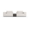 This item: Spruce Chalk Fabric Sectional Two Seat Sofa with Armrest