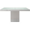 This item: Beech White Glass 59-Inch Dining Table