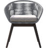 This item: Jesper Light Gray Cord Outdoor Dining Chair