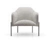 This item: Tiemann Silver Gray Fabric Lounge Chair