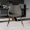 This item: Rutgers Deep Taupe Leather Dining Chair