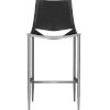 This item: Sloane Black Leather and Carbon Steel Bar Stool