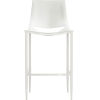 This item: Sloane Alpine Leather and Glossy White Bar Stool