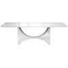 This item: Camden White Glass Dining Table