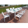 This item: Avallon White Outdoor Dining Set, 9-Piece