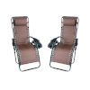 This item: Brown Outdoor Zero Gravity Lounger with Cup Holder, Set of 2