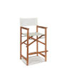 This item: Director Natural Sand Teak White Outdoor Counter Height Stool