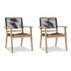 This item: Oslo Nature Sand Teak Teak Outdoor Stacking Armchair, Set of 2
