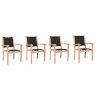 This item: Pearl Black Teak Outdoor Dining Armchair, Set of 4