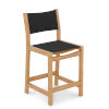 This item: Pearl Natural Sand Teak Black Outdoor Counter Height Stool