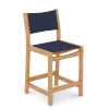 This item: Pearl Natural Sand Teak Navy Outdoor Counter Height Stool