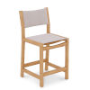 This item: Pearl Natural Sand Teak White Outdoor Counter Height Stool