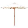 This item: Market White 118-Inch Diameter Teak Umbrella
