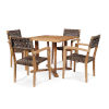 This item: Herning Brown Square Teak Table Outdoor Dining Set, 5-Piece