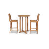 This item: Palm Nature Sand Teak Teak Round Table Bar Height Outdoor Dining Set, 3-Piece