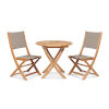 This item: Stella Taupe Teak Outdoor Round Folding Table and Chair Bistro Set, 3-Piece
