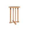 This item: Palm Nature Sand Teak Round Teak Bar Height Outdoor Bistro Table with Umbrella Hole