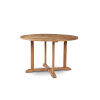 This item: Curtis Nature Sand Teak 35.5-Inch Dia Round Teak Outdoor Dining Table with Umbrella Hole
