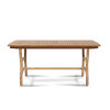 This item: Pacifica Nature Sand Teak Teak Rectangular Outdoor Dining Table with Umbrella Hole