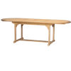 This item: January Nature Sand Teak Oval Teak Teak Outdoor Dining Table with Double Extensions