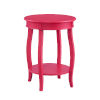 This item: Pink Round Table with Shelf