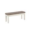 This item: Jane Vanilla White Storage Bench