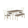 This item: Jane White Dining Set, 6 Piece Set