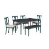 This item: Willow Teal Blue Dining Set, 6 Piece