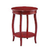 This item: Red Round Table with Shelf