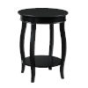 This item: Black Round Table with Shelf