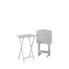 This item: Nora White Folding Tray Tables