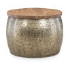 This item: Leah Gold Drum with Storage Table