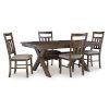 This item: Bella Rustic Umber Dining Set, 5 Piece Set