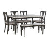 This item: Willow Dark Gray and White Dining Set, 6 Piece Set