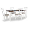 This item: Chloe White and Brown Dining Set, 5 Piece Set