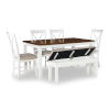 This item: Jane White and Brown Dining Set, 6 Piece Set