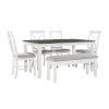 This item: Jane Dark Grey and White Dining Set, 6 Piece Set