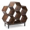 This item: Coram Hazelnut Brown Bookshelf