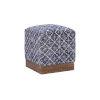 This item: Dallas Blue Ottoman