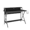 This item: Ian Black Gray Desk