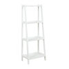 This item: Dunnsville White 4-Tier Ladder Leaning Shelf Bookcase