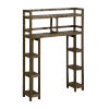 This item: Dunnsville Antique Chestnut 2-Tier Space Saver with Side Storage