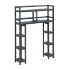 This item: Dunnsville Graphite 2-Tier Space Saver with Side Storage