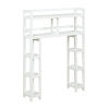 This item: Dunnsville White 2-Tier Space Saver with Side Storage