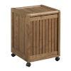 This item: Abingdon Antique Chestnut Laundry Hamper with Lid