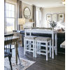 This item: Distressed White Sofa Bar Table and Stool Set