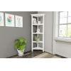 This item: White 4-Tier Corner Bookcase