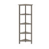 This item: Washed Grey 4-Tier Corner Bookcase